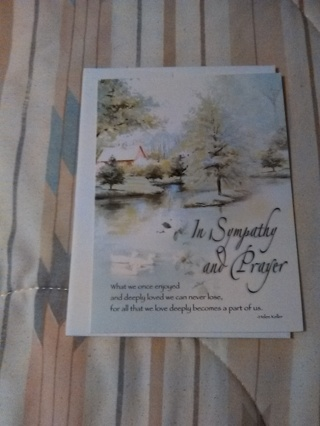 SYMPATHY CARD WITH ENVELOPE -- NEW!!