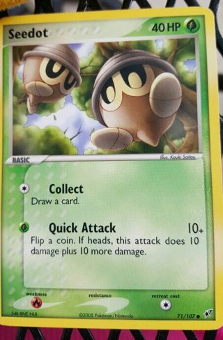 Seedot Pokémon card 71/107