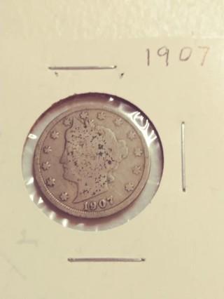 1907 Liberty V Nickel! Nice Date! 83