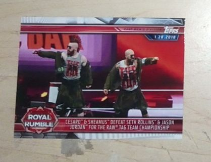 WWE 2019 Road to Wrestlemania The Bar Cesaro and Sheamus Card