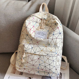 Womens Girl Oxford Backpack Rucksack Travel Shoulder School Bag Bookbag Satchel