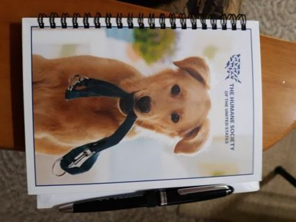 The Humane Society Notebook + Five Christmas Cards With Matching Envelopes