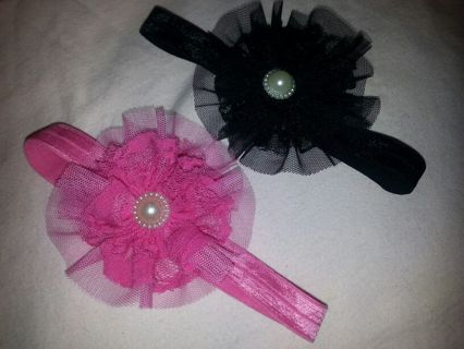 TWO BABY OR TODDLER HEADBANDS