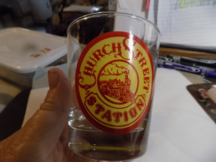Orlando Fl collectable historical Church Street Station Glass