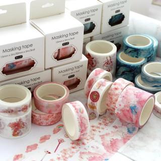 3pcs/pcs Japanese Decorative Deco Paper Floral Flower Cherry Blossom Masking Washi Tape Set Sticke