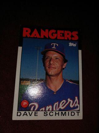 Baseball Card - Dave Schmidt 1986