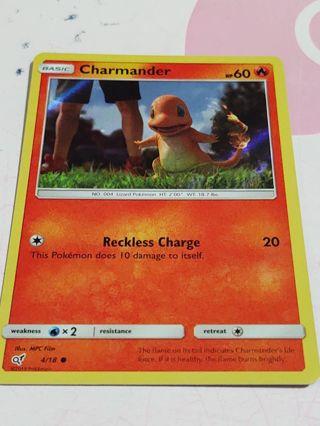 Holographic Pokemon Charmander card