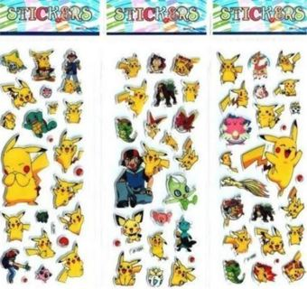 NEW Japanese Anime Pokemon Pop Up BUBBLE Stickers Super Cute!