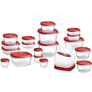 ☺ ~ Rubbermaid Easy Find Lids Food Storage Container, 42-piece Set, Red ~ ☺