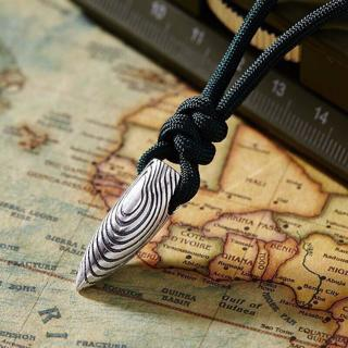Hot Stainless Steel Bullet Pendant Unisex's Men Necklace Fashion Jewelry Gift