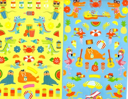 Poolside Pops and More Sticker sheets