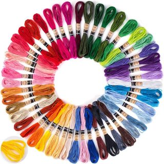 Embroidery Floss Thread (50 Skeins)