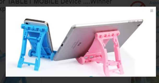 1 NEW Stand for TABLET MOBILE Device Different Colors Expandable  Adjustable Non-Slip