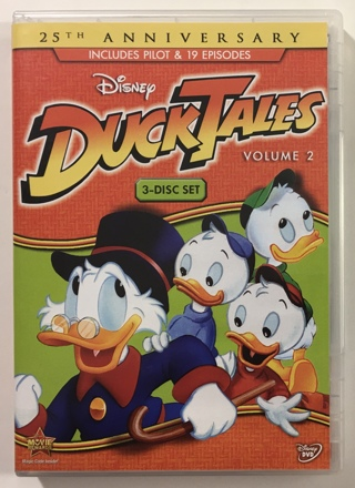 Disney Duck Tales Vol. 2 25th Anniversary 3-Disc DVD Set with Case and Artwork