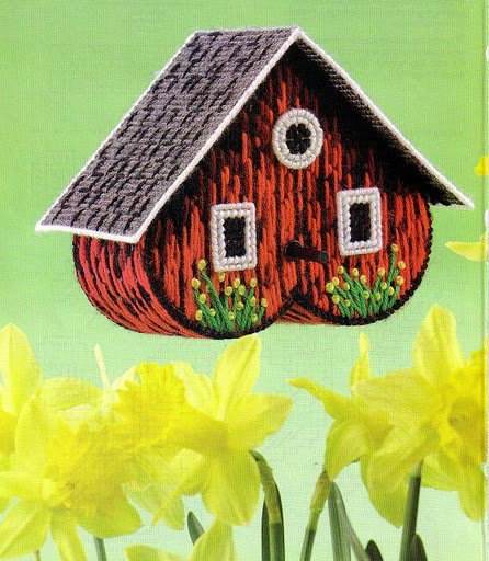 Free bird house plastic canvas pattern other craft for Plastic duck house