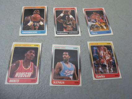 1988 (15) Fleer National Basketball Assoc. Basketball Cards