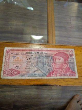 1976 Mexico 20 pesos