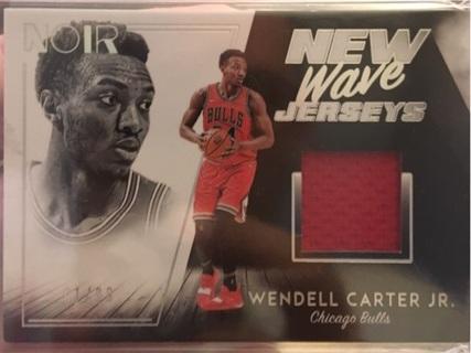 Wendell Carter Jr 1/99 New Wave Jersey Rookie Noir Chicago Bulls