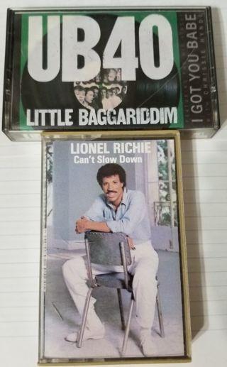 2 Cassette Tapes Lionel Richie & UB40