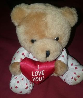 Avon 1995 I Love you plush bear