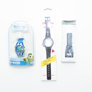 IOB Three Digital Watches (Pixar Disney Monsters, VTG 1992 Alien, and Talking) -- NOT WORKING