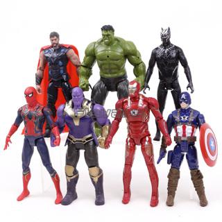 Marvel Avengers Infinity War Action Figures Toys Set Hulk Black Panther Captain