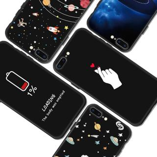 Fashion Space Phone Case For iPhone X 8 7 6 6S Plus 5 5S SE Planet Moon Star spider Silicone Case