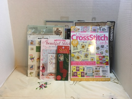 Mixed Lot of Counted Cross Stitch, Embroidery Kits, Books, Patterns, Graphs