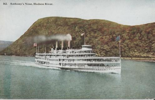 Vintage Unused Postcard: Pre Linen: Anthony's Nose, Hudson River