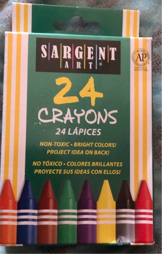 """BNIB 24 Crayons! """"Sargent Art"""" Excellent For Illustration/Spcl Effects/Art Class/Crafts"""