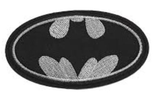 LAST ONE! BATMAN Symbol Logo IRON ON Patch DC Clothing accessory Embroidered Badge FREE SHIPPING