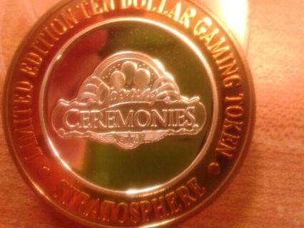 $10.00 silver strike 1996 Grand Opening Stratosphere casino Las Vegas