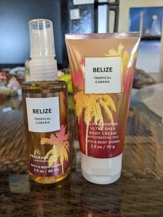 B&BW Belize tropical Cabana travel set
