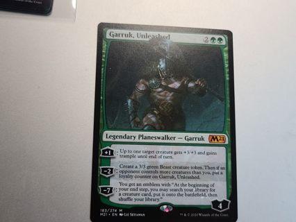 Magic the gathering mtg Garruk Unleashed legendary planeswalker Mythic Rare