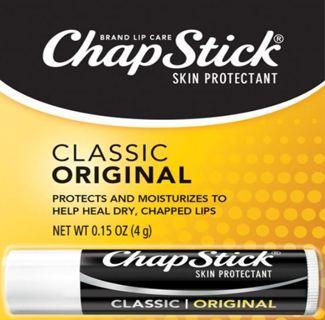 ChapStick Classic (Regular Flavor, 0.15 Ounce) Skin Protectant Lip Balm Tube