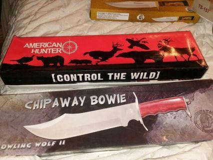 American hunter and chipaway big knives!!