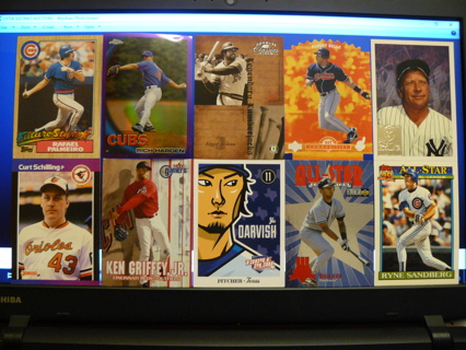 (10) Baseball Cards Stars, HOFers, Serial #'d or Inserts - LOT 17 - Read Details