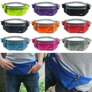 Unisex Sport Running Bum Bag Travel Handy Hiking Fanny Pack Waist Belt Zip Pouch