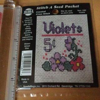 BN Cross stitch Violets