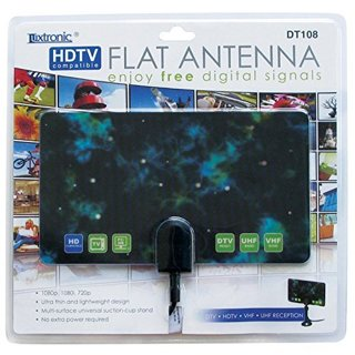 Luxtronic HDTV Flat Antenna - 25 Miles Range Compact Design