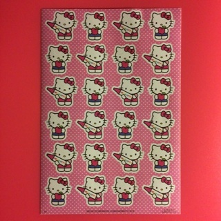 Sanrio Hello Kitty Sticker Sheet ~ 24 STICKERS ~ SO KAWAII!