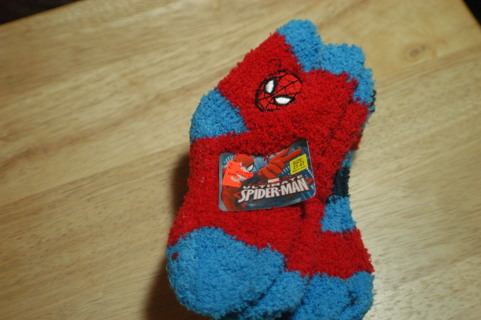 3 Pair of Boys Spiderman Socks