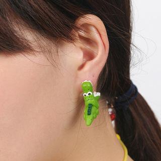 2 Pairs Women Earring 3D Crocodile