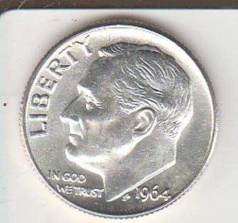 B U 1964 Dime