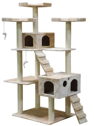 1 Go Pet Club Cat Tree F2040 - Beige - 72 in.