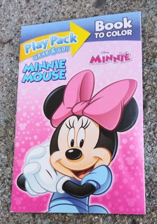 DISNEY MINNIE MOUSE AND FRIENDS SMALL COLORING BOOK WITH STICKERS USE YOUR OWN CRAYONS