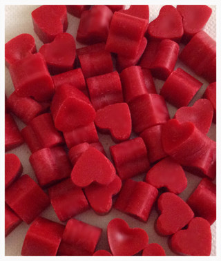 12 Super Scented Heart Wax Melts