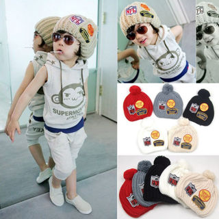 Fast Delivery - New Kids Girl Boy Baby Child Winter Warm Crochet Knit Hat #1
