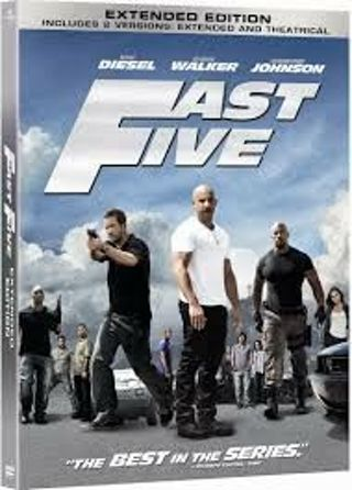 Fast Five HDX UV Vudu code only (Extended Edition)
