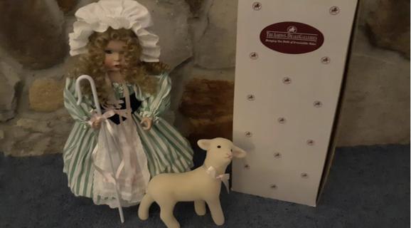 BNIB Vintage Little Bo Peep Collectible Porcelain Doll